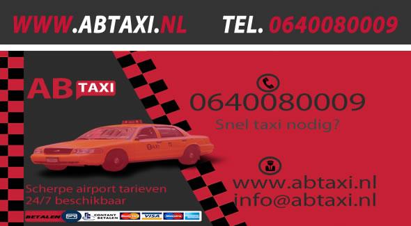 Visitekaart Taxi Tiel
